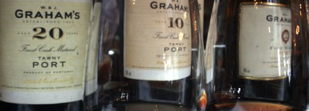 Image - glasses of port wine at Graham's port house in Porto.