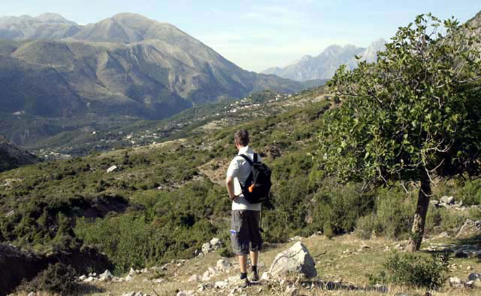 Albania trekking - the countryside is wonderfully unspoilt.