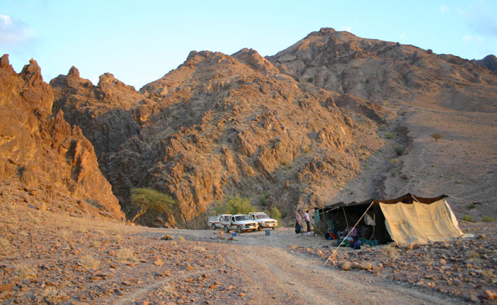 Image - Petra trek - camping in a simple Bedouin tent