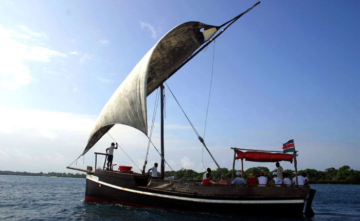 Kenya beach holidays: Cruising on Charlie Claw's dhow