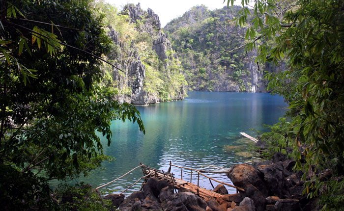 Image - Hidden lake at Coron island, Palwan, The Philippines