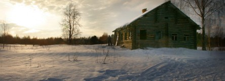 Image - Russia: Deserted hut in the snow in Karelia