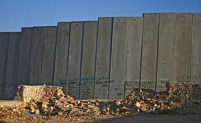 The separation wall at Bethlehem, Palestine
