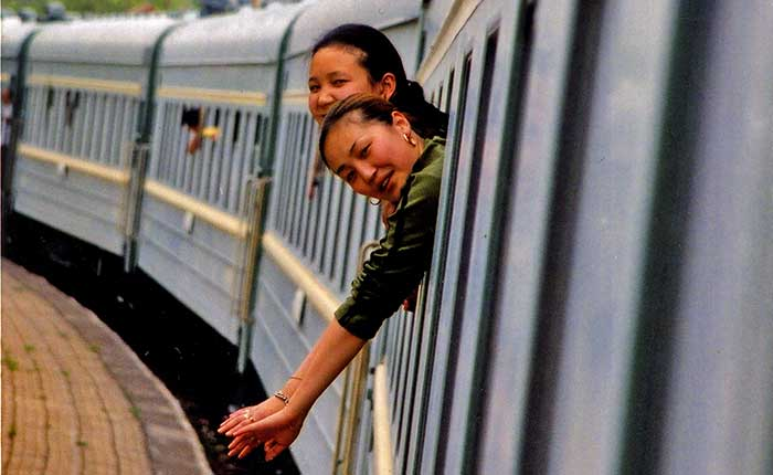 Image - The Trans-Mongolian Railway - Chinese carriage attendants on the train