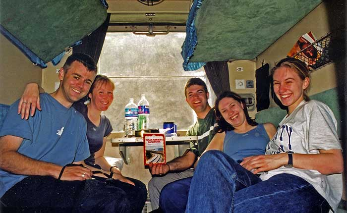 Image - The Trans-Siberian - Backpackers on board the train