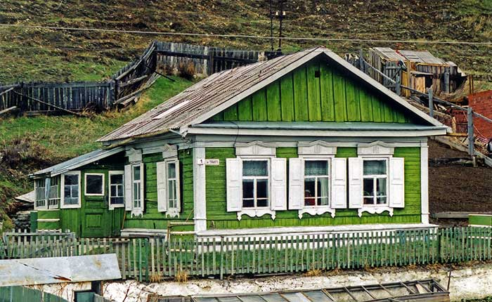 Image - The Trans-Siberian - a traditional wooden Siberian house
