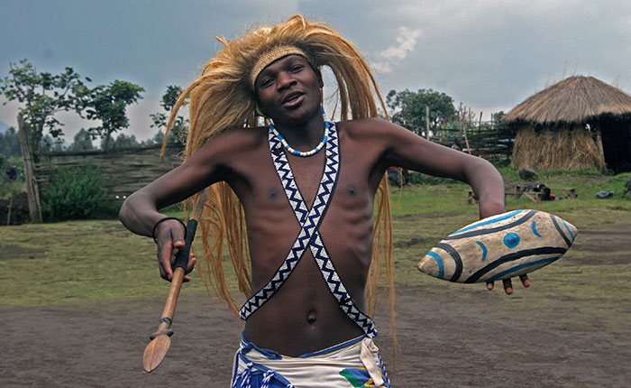 Image: Tribal dancer in Rwanda