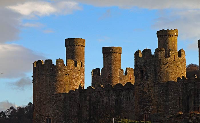 Image: Jagged turrets at Conwy Castle, North Wales