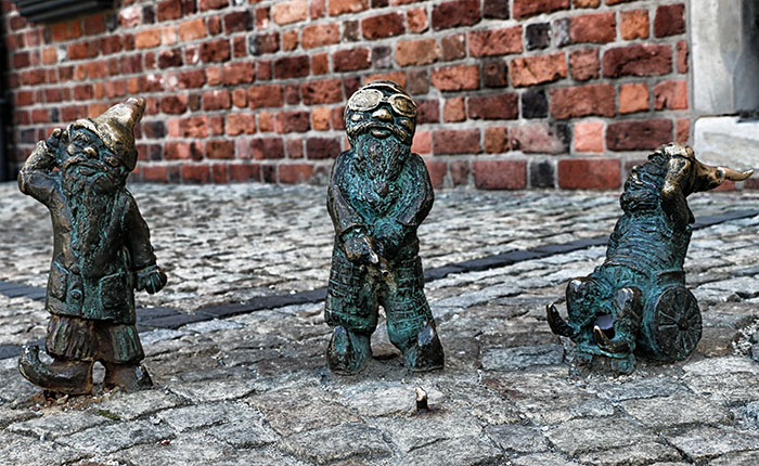 Image: Wroclaw - The dwarf was a symbol of dissent in Wroclaw against the authorities in the Communist era.